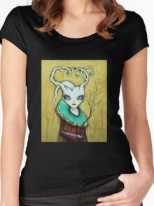 Original Art by ANGIECLEMENTINE Women's Fitted Scoop T-Shirt