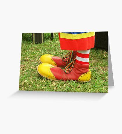 Clown Kicks Greeting Card
