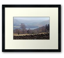 Who put that wall in the way? Grasmere, Lake District Framed Print