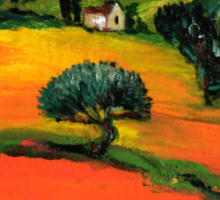 TUSCANY LANDSCAPE  WITH SUNFLOWERS Sticker