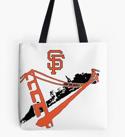 San Francisco Giants Stencil Tote Bag
