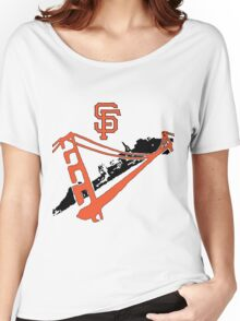 San Francisco Giants Stencil Women's Relaxed Fit T-Shirt