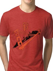 San Francisco Giants Stencil Tri-blend T-Shirt
