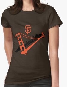 San Francisco Giants Stencil Womens Fitted T-Shirt
