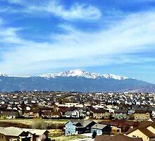 Pikes Peak Colorado from Suburbia by zaxyn
