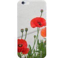 Sidewalk Poppies iPhone Case/Skin