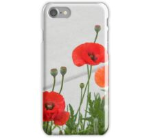 Sidewalk Poppies iPhone Case/Skin