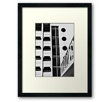 Parking Lot Geometry Framed Print