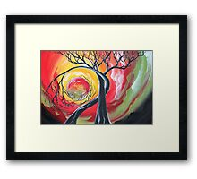 Original SURREAL landscape by ANGIECLEMENTINE Framed Print