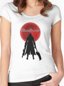 Bloodborne Red Moon Logo Women's Fitted Scoop T-Shirt