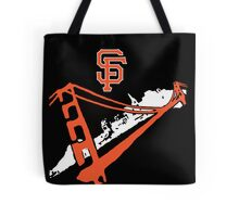 San Francisco Giants Stencil Black Background Tote Bag