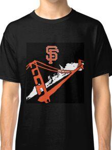 San Francisco Giants Stencil Black Background Classic T-Shirt