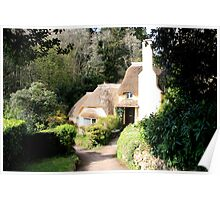 Selworthy Thatched Cottage Poster