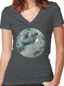 Crystal Ball 2 Women's Fitted V-Neck T-Shirt