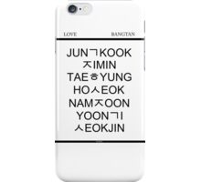 BTS Hangul Time! iPhone Case/Skin