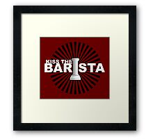 Kiss the barista Framed Print