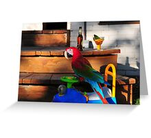 Parrot in Paridise Greeting Card
