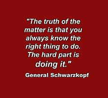"""The truth of the matter is..."" - General Schwarzkopf by Buckwhite"