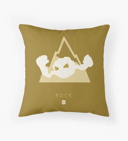 Pokemon Type - Rock Throw Pillow