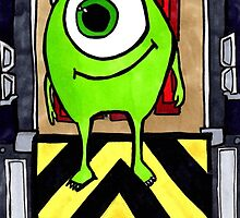Mike Wazowski from Monsters Inc by Aphina