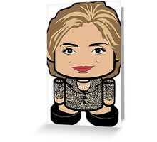 Hillary Politico'bot Toy Robot 1.0 Greeting Card