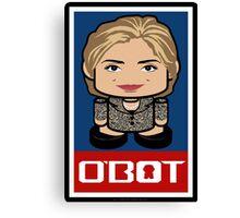 Hillary Politico'bot Toy Robot 2.0 Canvas Print