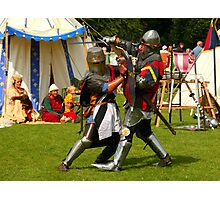 Battling knights at the village fayre Photographic Print