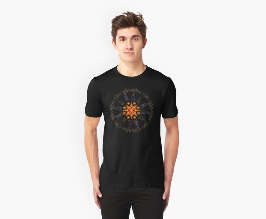 Giraffe Circle T-Shirt by PhilLewis