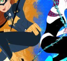 Batgirl and Spider Gwen Sticker