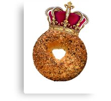 Bagel King Canvas Print