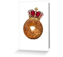 Bagel King Greeting Card