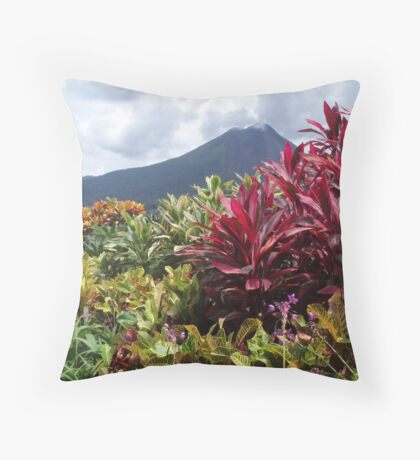 Beautiful volcano Throw Pillow