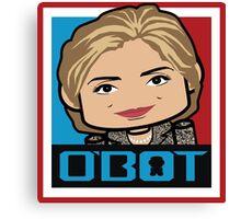 Hillary Politico'bot Toy Robot 3.0 Canvas Print