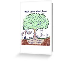 What I Love About Trees Greeting Card