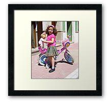 """ It,s my bike."" Framed Print"