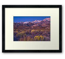 Sierras Alpine Glow Framed Print