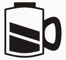 Coffee Recharge - Black Print Kids Tee