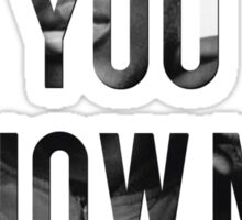 STORMZY // WHERE DO YOU KNOW ME FROM Sticker