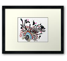 Psychedelic coral abstract flower Framed Print