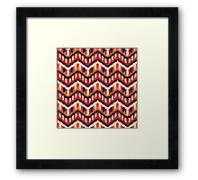 Painted Hippie or Boho Ethnic Pattern Framed Print
