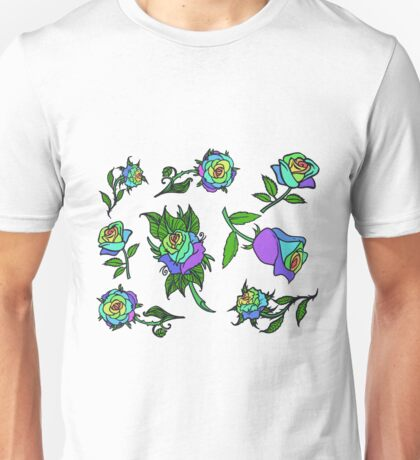 Rainbow roses Unisex T-Shirt