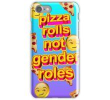 Pizza Rolls Not Gender Roles iPhone Case/Skin