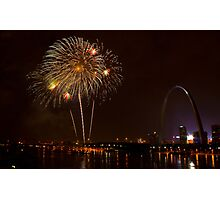 Fireworks-The Gateway Arch Photographic Print