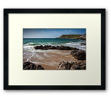 Fall Bay Gower Swansea Framed Print