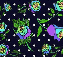 Rainbow roses with polka dots by maggiepuffle