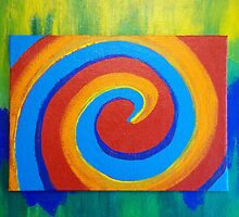 Colorful Spiral - Abstract by Holly Cannell by hollycannell