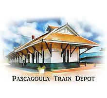 Pascagoula Train Depot - Rail Road - Historical Photographic Print