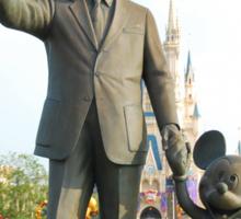 Walt and Mickey Statue Sticker