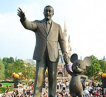 Walt and Mickey Statue by BethannieeJ
