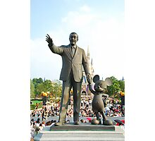 Walt and Mickey Statue Photographic Print